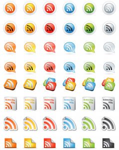 200 icons rss free gratuit