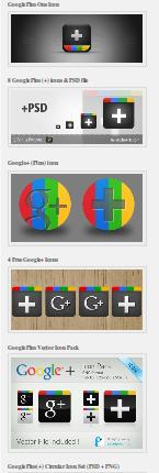 icons google +1